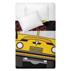 Back To School   School Bus Duvet Cover Double Side (single Size) by Valentinaart