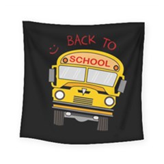 Back To School   School Bus Square Tapestry (small) by Valentinaart