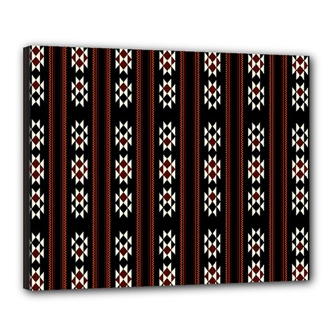Folklore Pattern Canvas 20  X 16  by Valentinaart