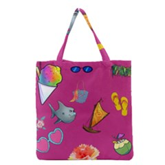 Aloha   Summer Fun 1 Grocery Tote Bag by MoreColorsinLife
