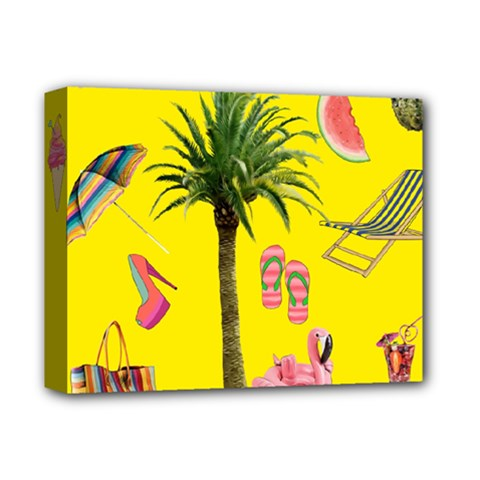 Aloha   Summer Fun 2 Deluxe Canvas 14  X 11  by MoreColorsinLife