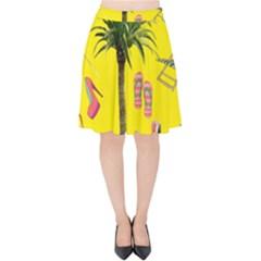 Aloha   Summer Fun 2 Velvet High Waist Skirt by MoreColorsinLife
