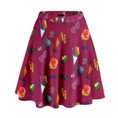 Aloha   Summer Fun 1c High Waist Skirt by MoreColorsinLife
