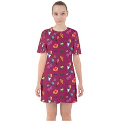 Aloha   Summer Fun 1c Sixties Short Sleeve Mini Dress