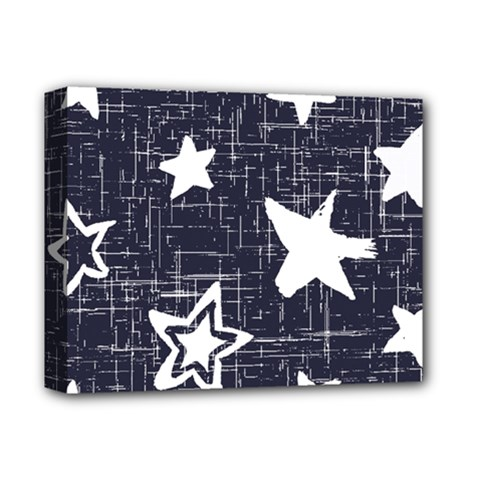 Star Space Line Blue Art Cute Kids Deluxe Canvas 14  X 11  by Mariart