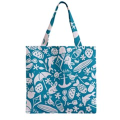 Summer Icons Toss Pattern Grocery Tote Bag by Mariart