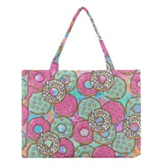 Donuts Pattern Medium Tote Bag by ValentinaDesign