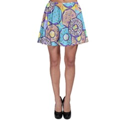 Donuts Pattern Skater Skirt by ValentinaDesign