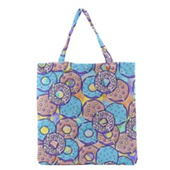Donuts Pattern Grocery Tote Bag by ValentinaDesign