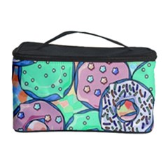 Donuts Pattern Cosmetic Storage Case by ValentinaDesign