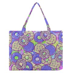 Donuts Pattern Zipper Medium Tote Bag by ValentinaDesign