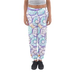 Donuts Pattern Women s Jogger Sweatpants by ValentinaDesign