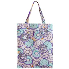 Donuts Pattern Zipper Classic Tote Bag by ValentinaDesign