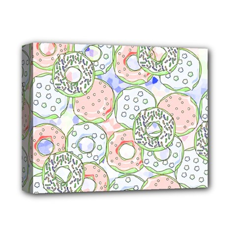 Donuts Pattern Deluxe Canvas 14  X 11  by ValentinaDesign
