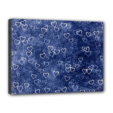 Heart Pattern Canvas 16  X 12  by ValentinaDesign