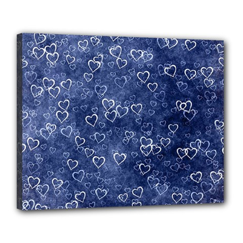Heart Pattern Canvas 20  X 16  by ValentinaDesign