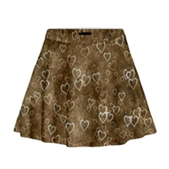 Heart Pattern Mini Flare Skirt by ValentinaDesign