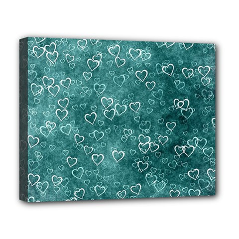 Heart Pattern Deluxe Canvas 20  X 16   by ValentinaDesign
