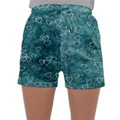 Heart Pattern Sleepwear Shorts