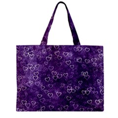 Heart Pattern Zipper Mini Tote Bag by ValentinaDesign