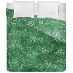 Heart Pattern Duvet Cover Double Side (california King Size)