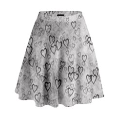 Heart Pattern High Waist Skirt by ValentinaDesign