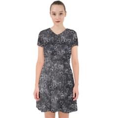 Heart Pattern Adorable In Chiffon Dress