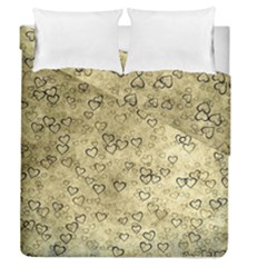 Heart Pattern Duvet Cover Double Side (queen Size) by ValentinaDesign