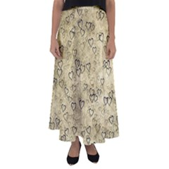 Heart Pattern Flared Maxi Skirt by ValentinaDesign