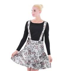 Heart Pattern Suspender Skater Skirt by ValentinaDesign