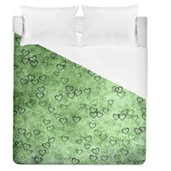 Heart Pattern Duvet Cover (queen Size) by ValentinaDesign