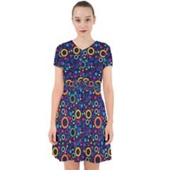 70s Pattern Adorable In Chiffon Dress