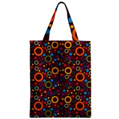 70s Pattern Zipper Classic Tote Bag by ValentinaDesign