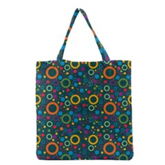 70s Pattern Grocery Tote Bag by ValentinaDesign