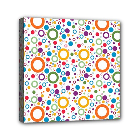 70s Pattern Mini Canvas 6  X 6  by ValentinaDesign
