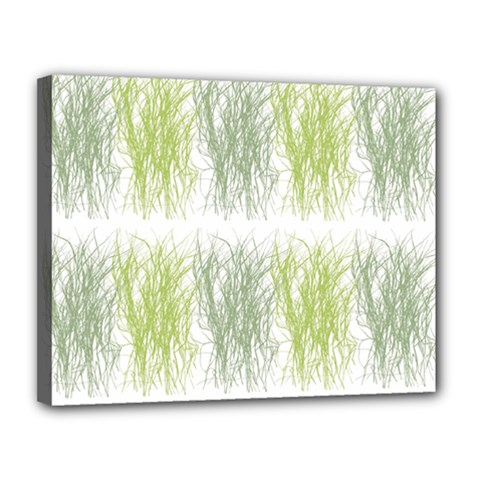 Weeds Grass Green Yellow Leaf Canvas 14  X 11  by Mariart