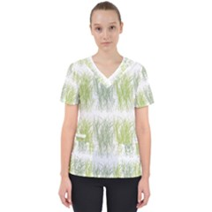 Weeds Grass Green Yellow Leaf Scrub Top