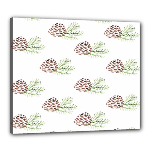 Pinecone Pattern Canvas 24  X 20  by Mariart