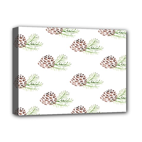 Pinecone Pattern Deluxe Canvas 16  X 12   by Mariart