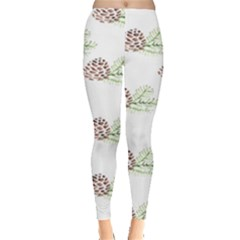 Pinecone Pattern Leggings  by Mariart
