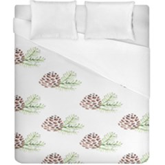 Pinecone Pattern Duvet Cover (california King Size) by Mariart