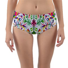 Peacock Rainbow Animals Bird Beauty Sexy Reversible Mid Waist Bikini Bottoms by Mariart