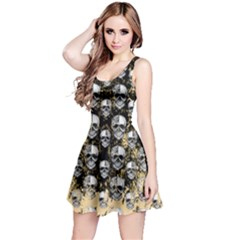 Black Scary Skulls Reversible Sleeveless Dress