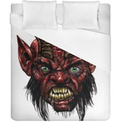 Krampus Devil Face Duvet Cover (california King Size) by Zhezhe