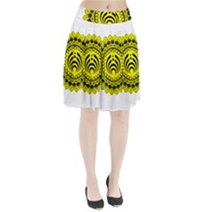 Bassnectar Sunflower Pleated Skirt by Zhezhe