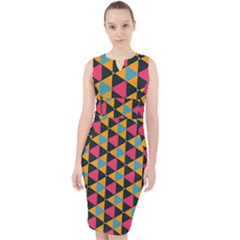 Triangles Pattern                             Midi Bodycon Dress