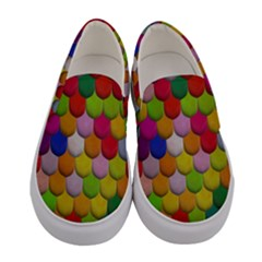 Colorful Tiles Pattern                      Women Canvas Slip Ons