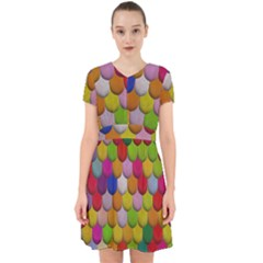 Colorful Tiles Pattern                             Adorable In Chiffon Dress by LalyLauraFLM