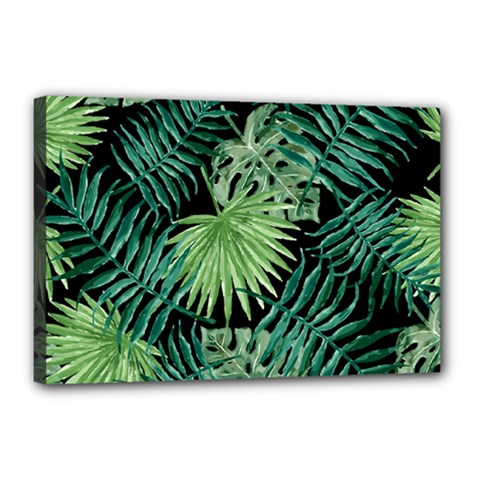 Tropical Pattern Canvas 18  X 12  by ValentinaDesign