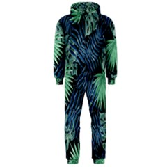 Tropical Pattern Hooded Jumpsuit (men)  by ValentinaDesign